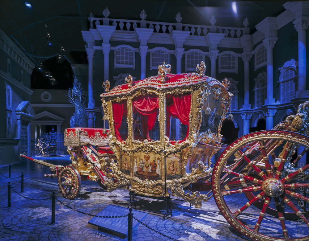 Museum exhibit - Russian carriage (Catherine the Great)