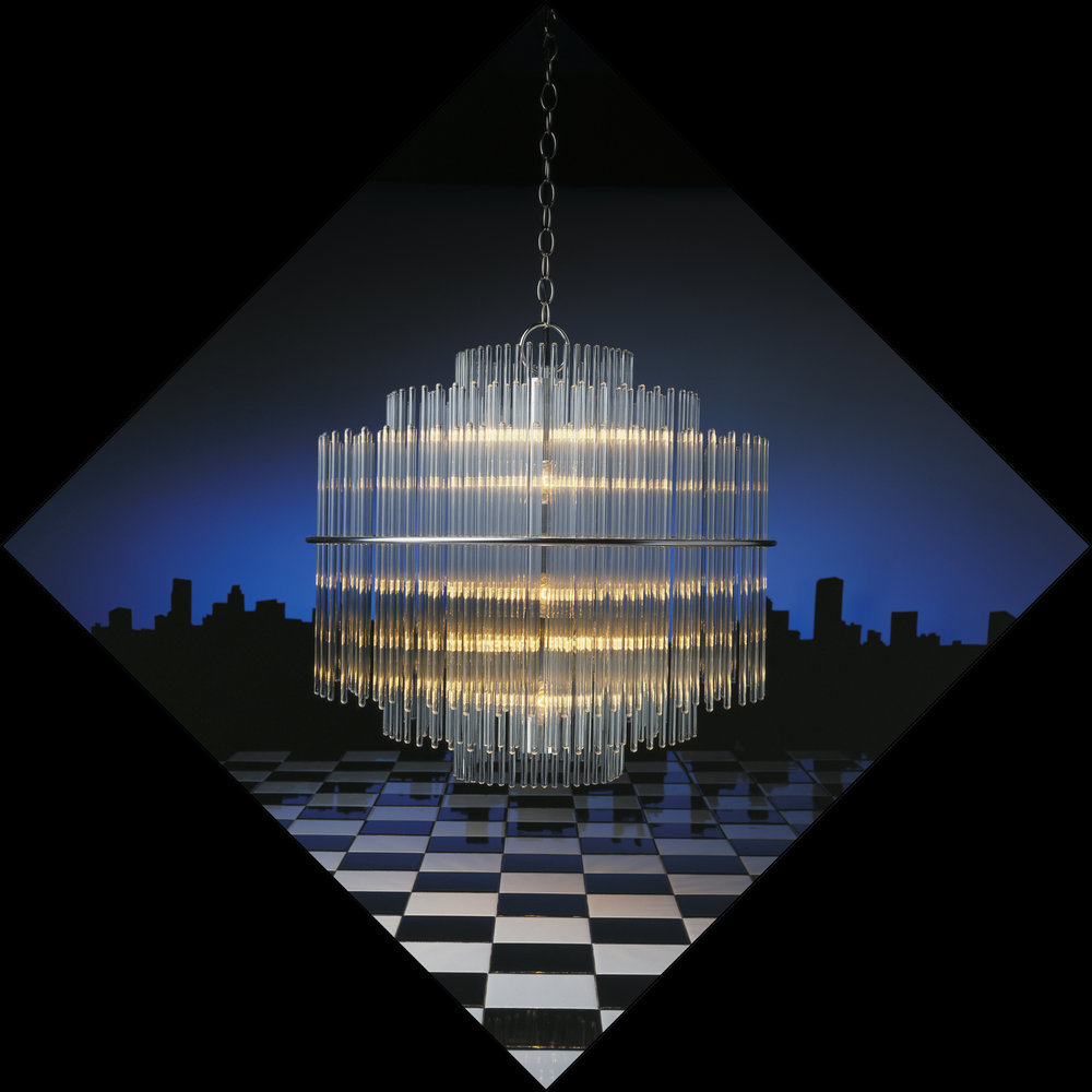 Chandelier and skyline