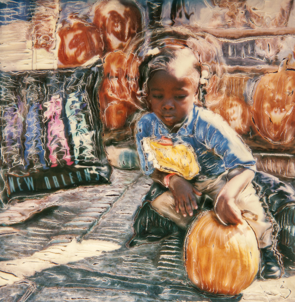 Young girl at French Market, 1999
