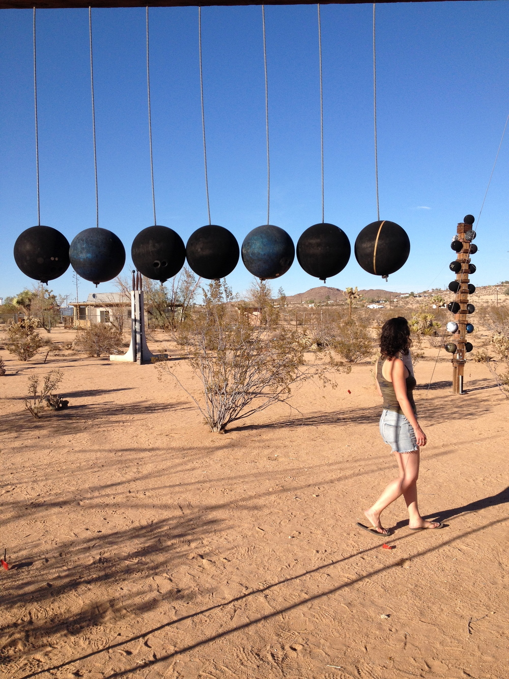 checked out Noah Purifoy's sculptures in Joshua Tree