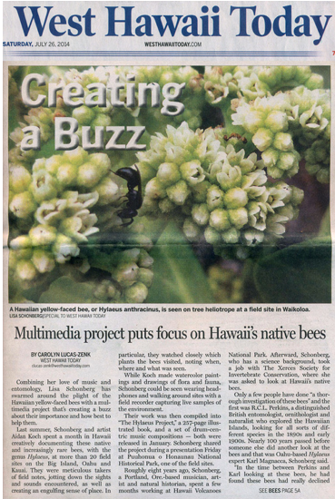 FRONT PAGE, west hawaii today