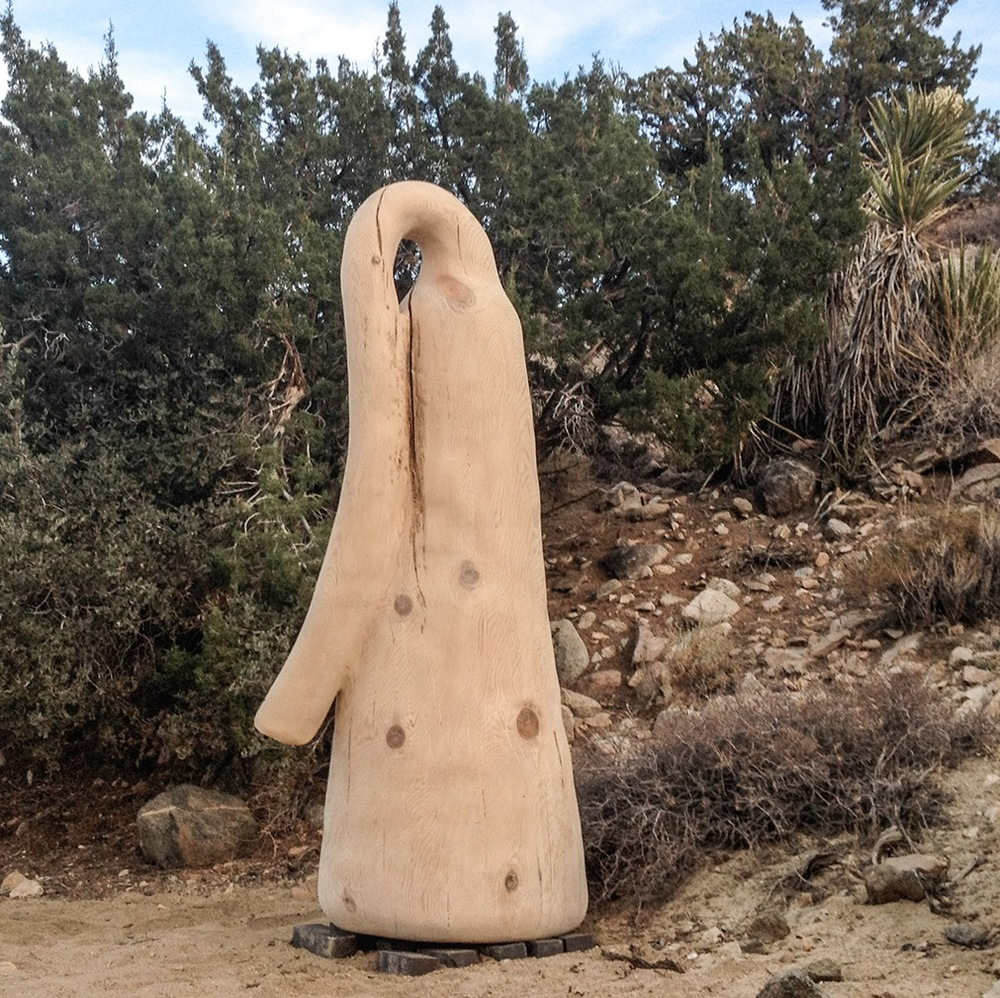 "Alma Allen  Untitled  2013   Ponderosa pine   89"" x 41"" x 41"""