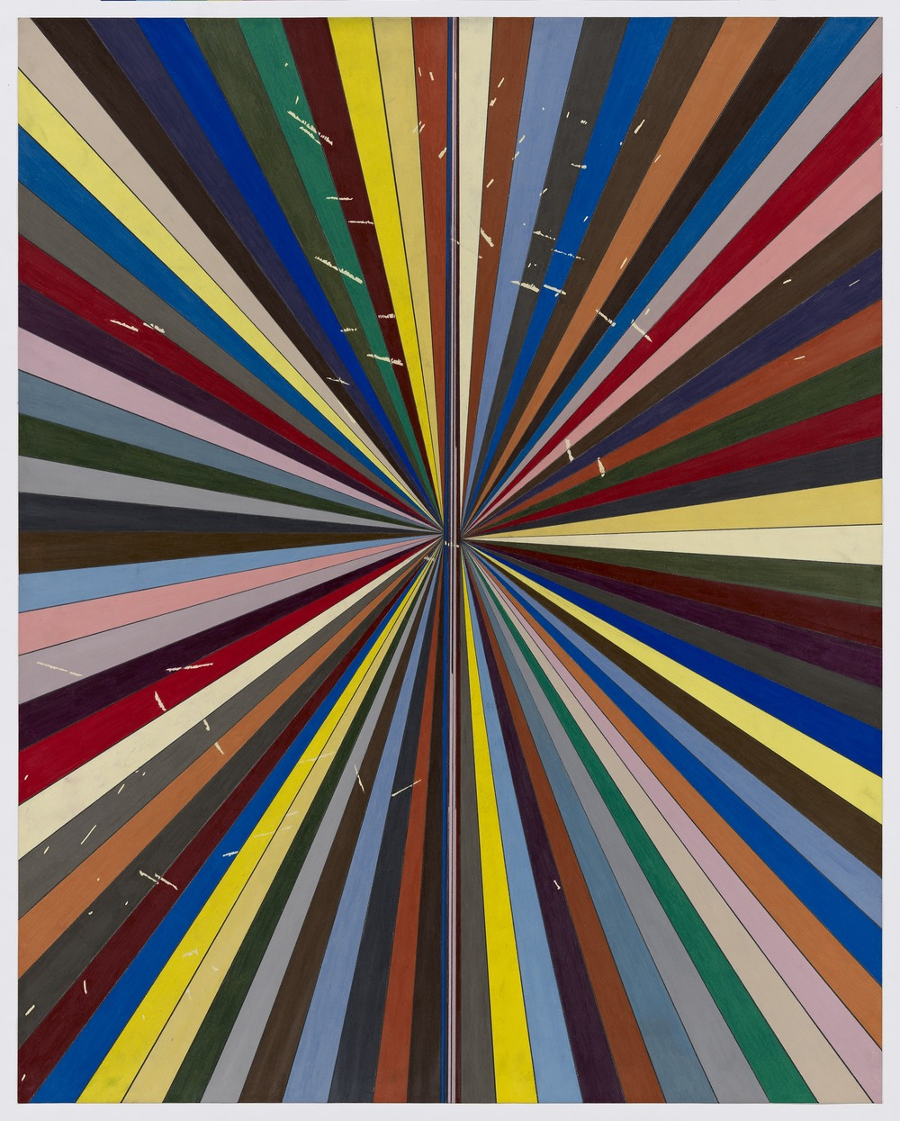 Mark Grotjahn  Untitled (Full Color Butterfly 41.74)  2011 Color pencil on paper 47 3/4h x 38w in MG41.74