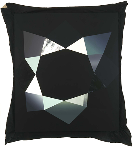 Kim Fisher  Carbon 17 (Bort Diamond)  2004 Oil on linen 84h x 68w in