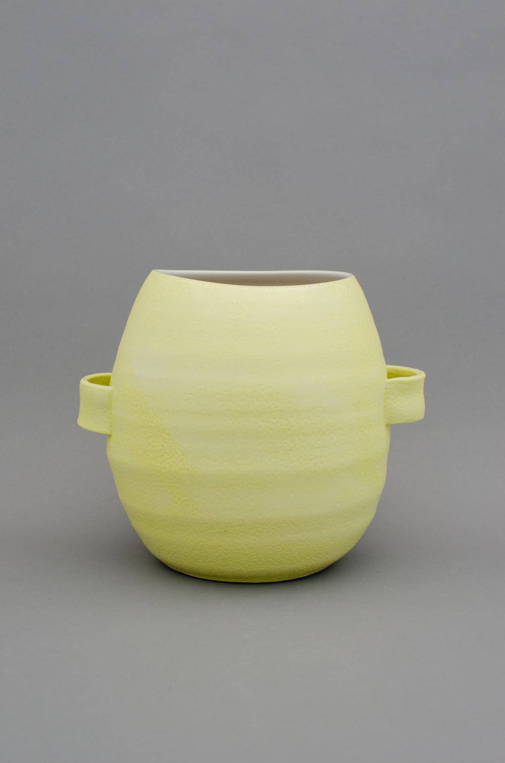 """Shio Kusaka Untitled (handle 1) 2012 Porcelain 9"""" x 10 1/4"""" x 8 1/4"""" SK389"""