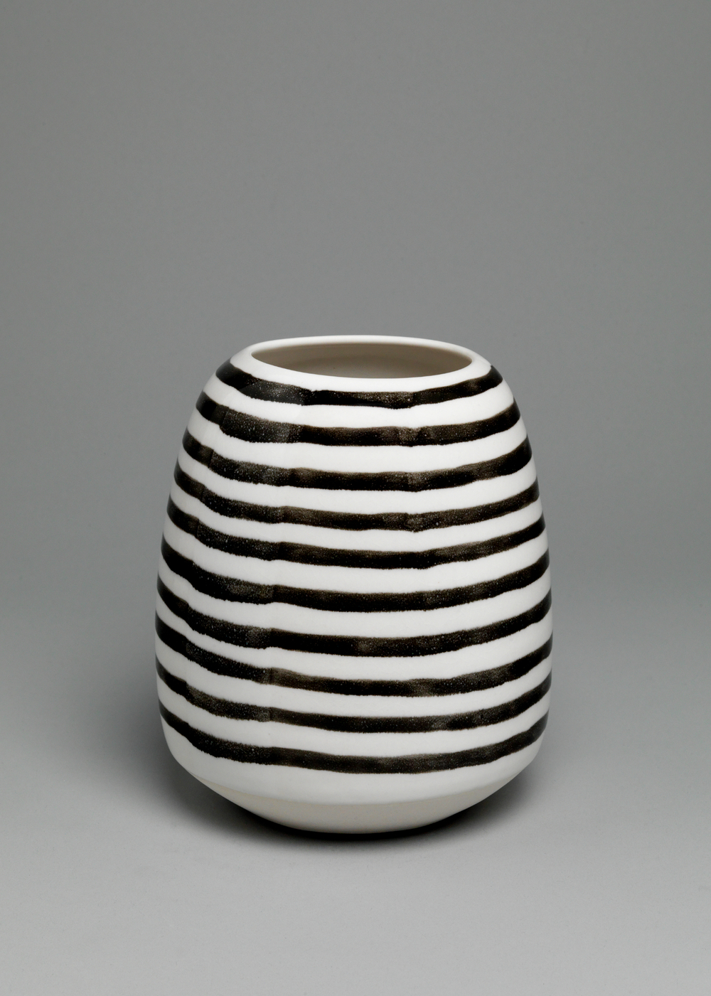 Shio Kusaka  Untitled (stripe 32)   2011 Porcelain 7 ⅜h x 6w x 6d in SK278
