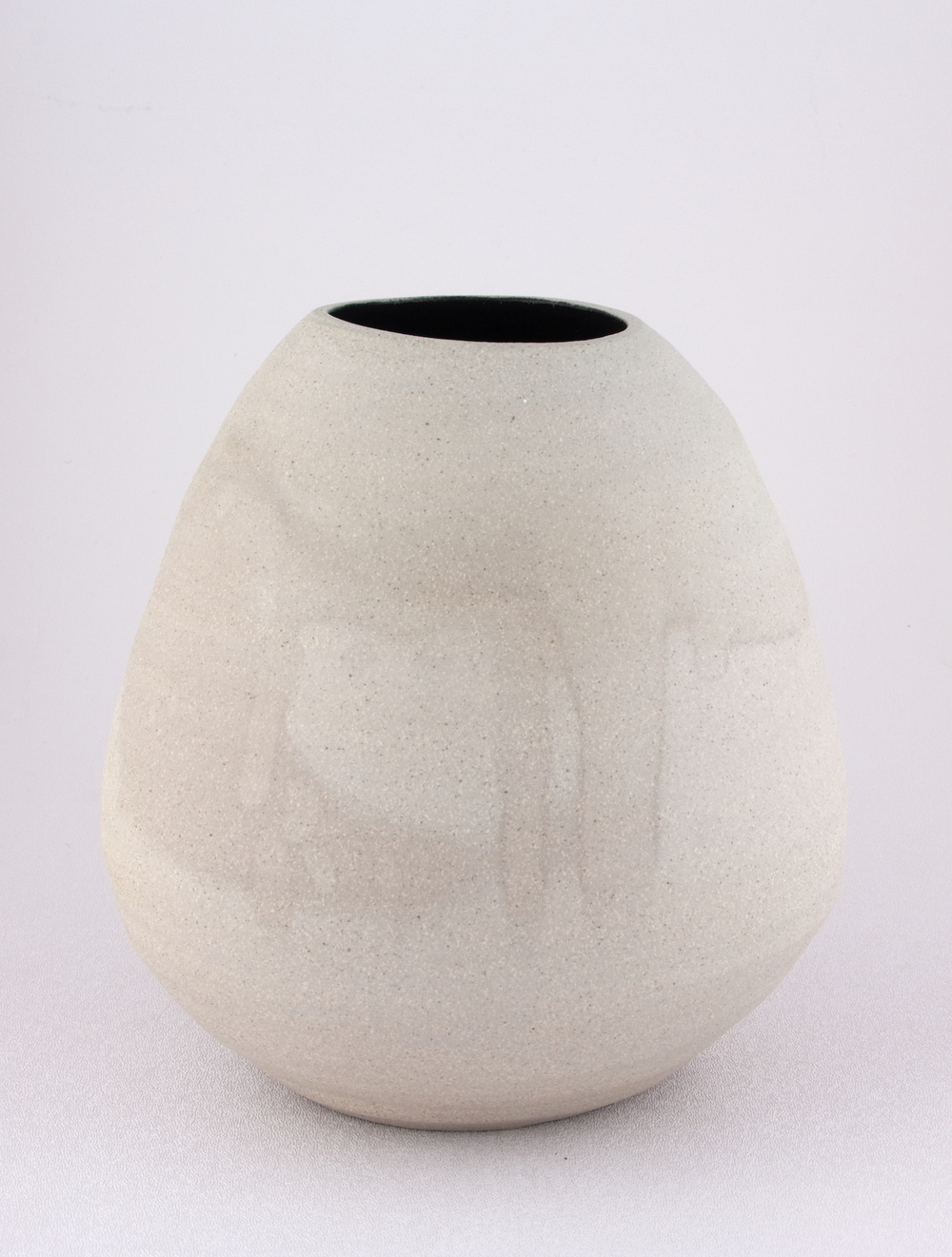 Shio Kusaka  Untitled (grey and black)  2008 Stoneware 8h x 8w x 8d in SK062