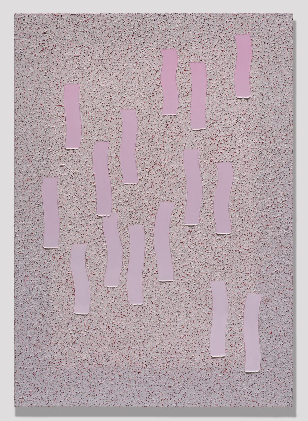 "Alex Olson  Disperse  2013   Oil and modeling paste on linen   41"" x 29"" AO144"