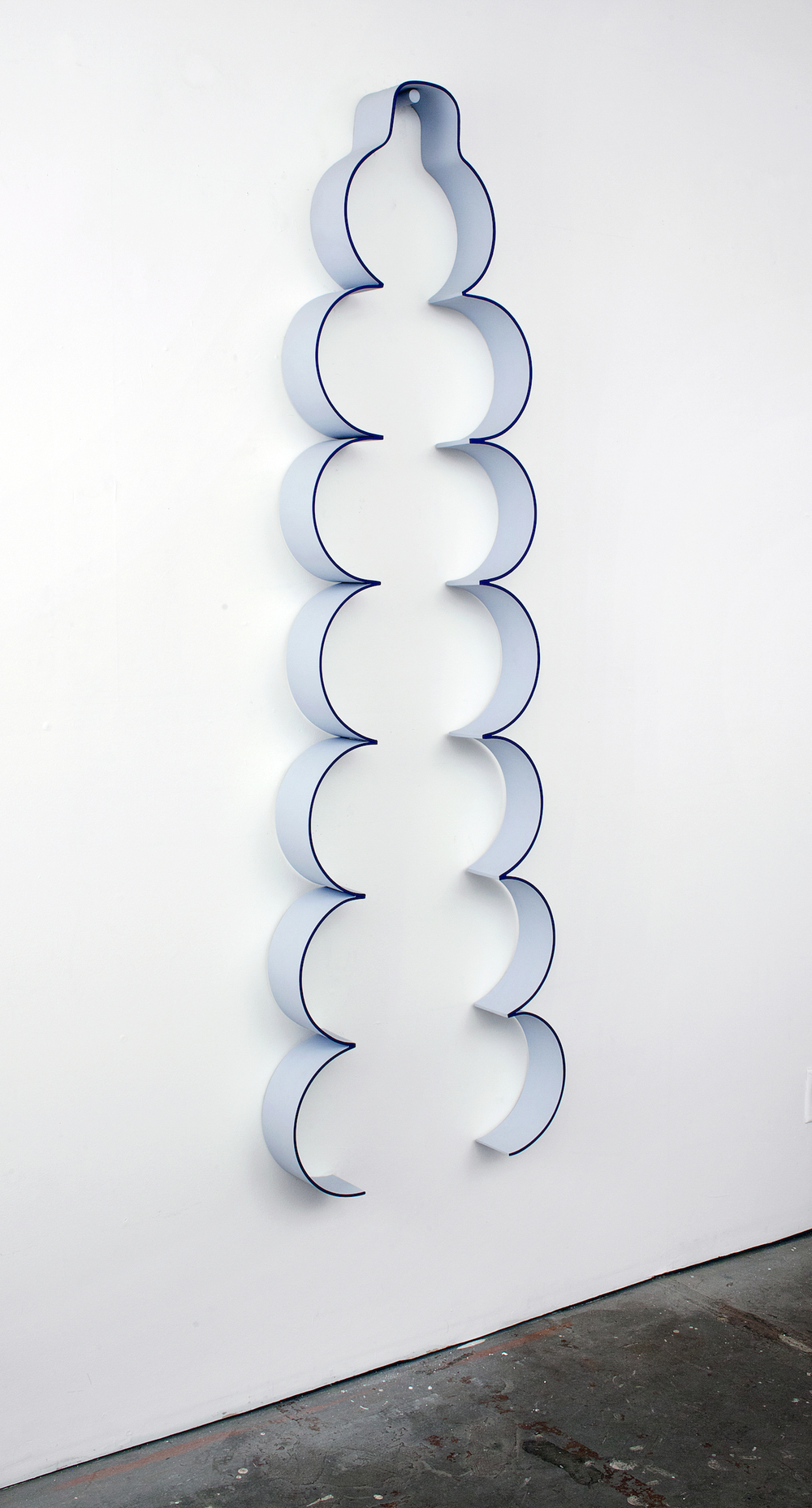 "Lisa Williamson Up-Do 2012 Acrylic on powder-coated steel 75"" x 23"" x 4"" LW094"