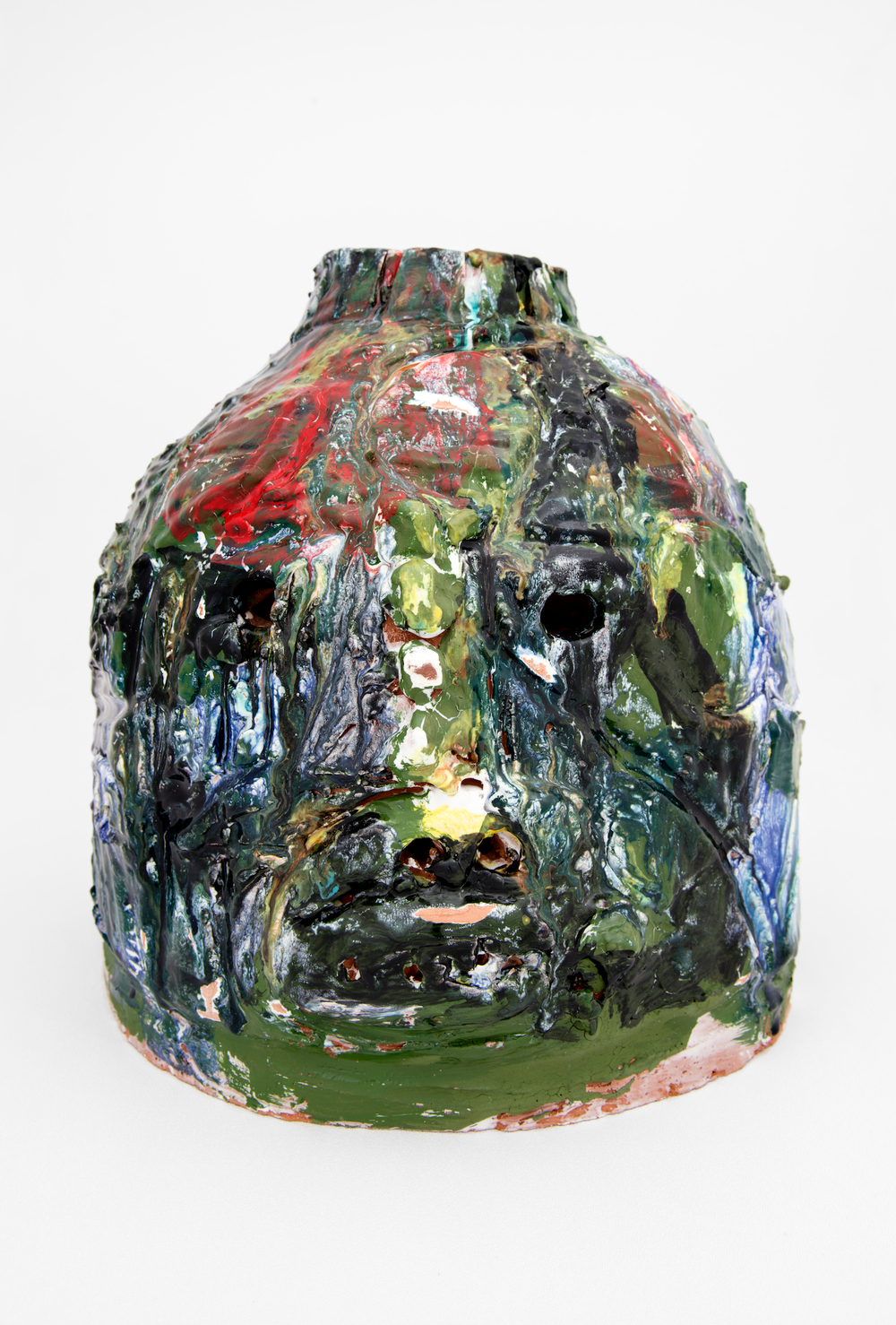 "William J. O'Brien  Blood Face  2012   Glazed ceramic   15 1/2"" x 14"" x 14""  WOB803"