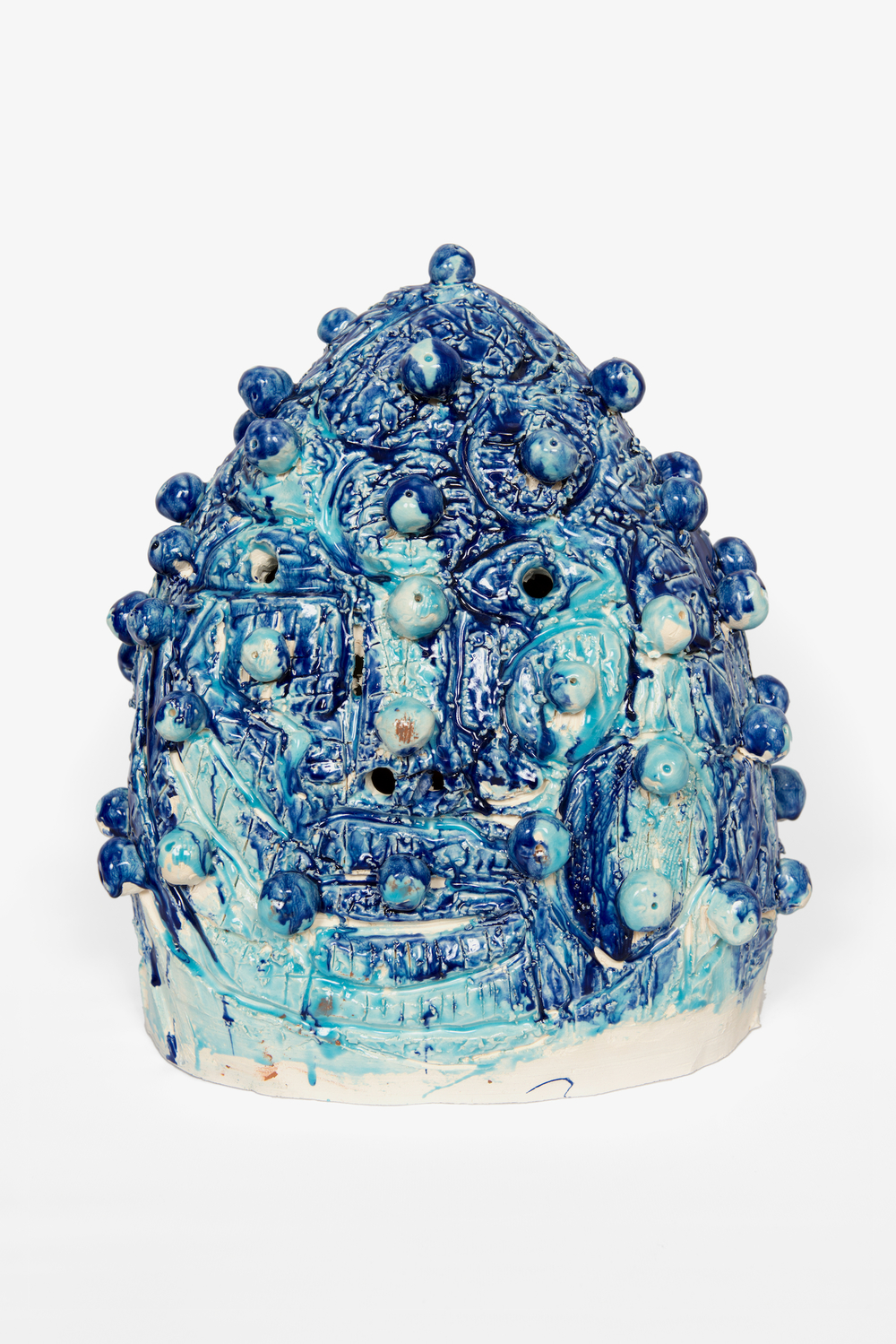 "William J. O'Brien  Blues  2012   Glazed ceramic   18"" x 16 1/2""x 12""  WOB805"