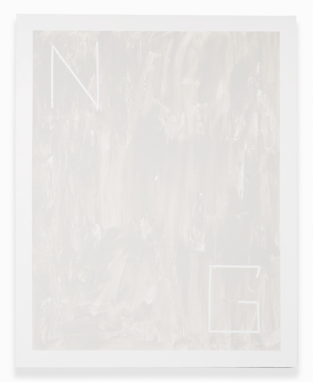 Shimon Minamikawa  Neutral Gray  2014 Acrylic on canvas 39 ½h x 31 ½w in SMin006