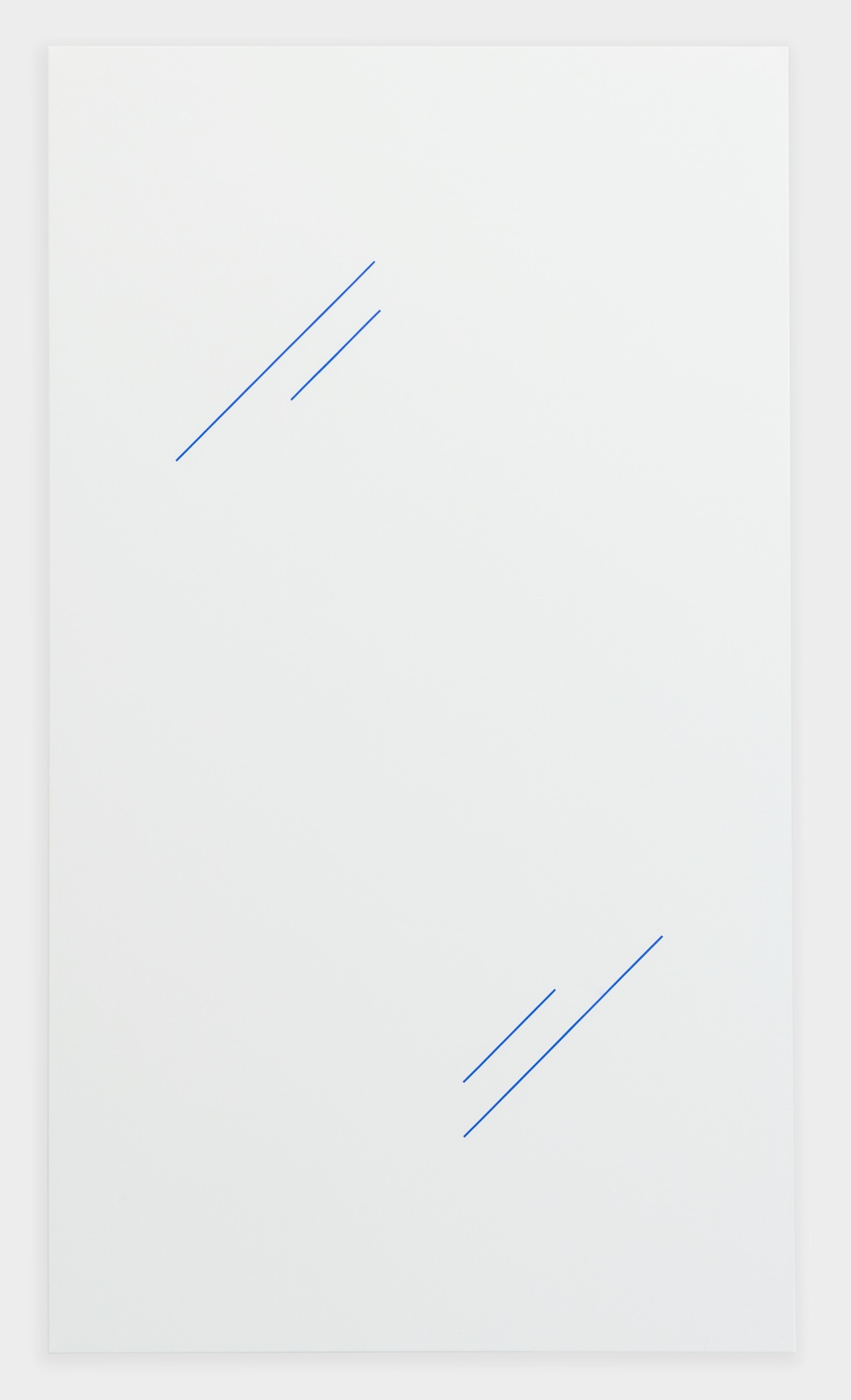Paul Cowan  BCEAUSE THE SKY IS BULE  2013 Chroma-key Blue Paint On Canvas 72h x 41w in  PC085