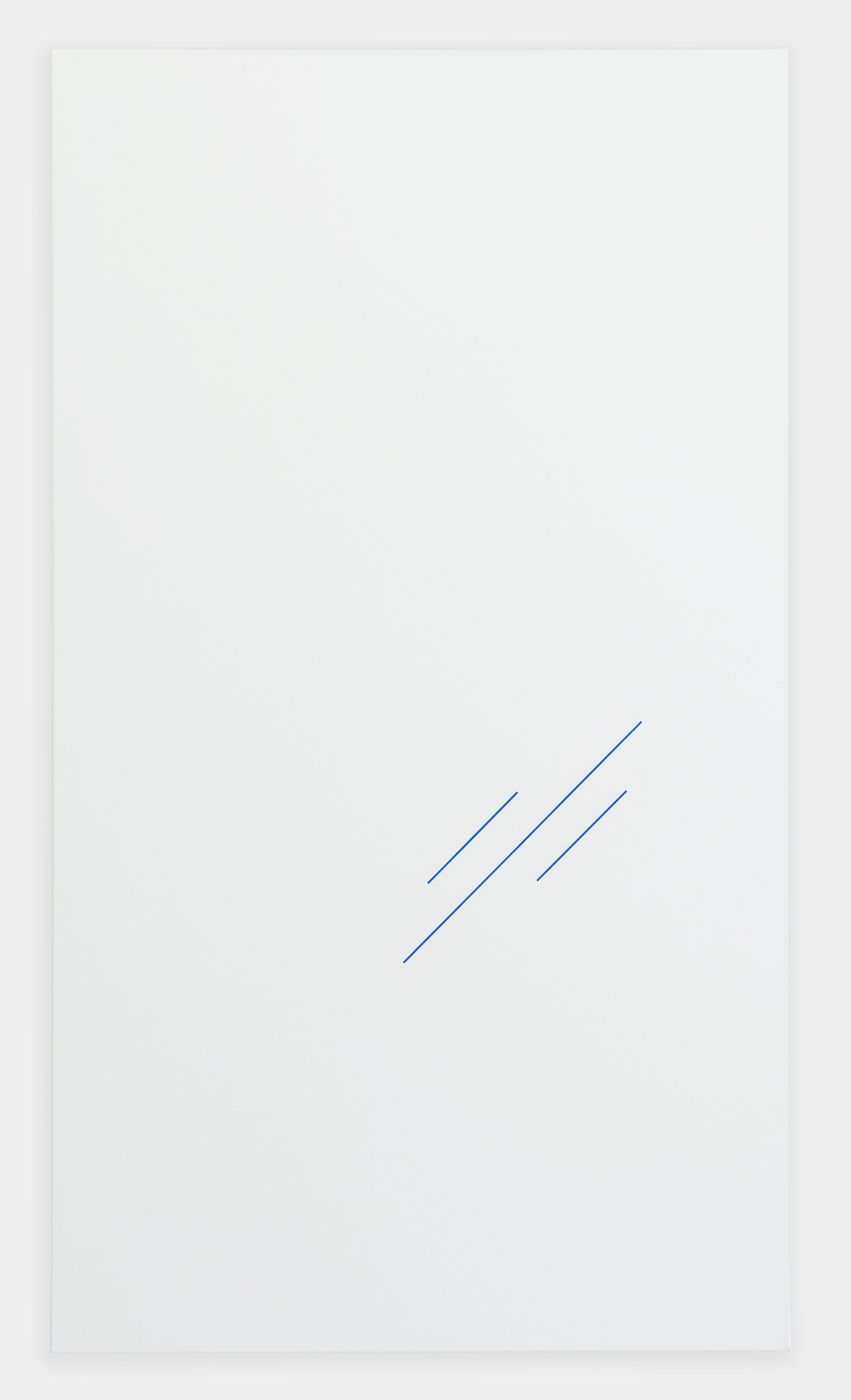 Paul Cowan  BCEAUSE THE SKY IS BULE  2013 Chroma-key Blue Paint On Canvas 72h x 41w in  PC084