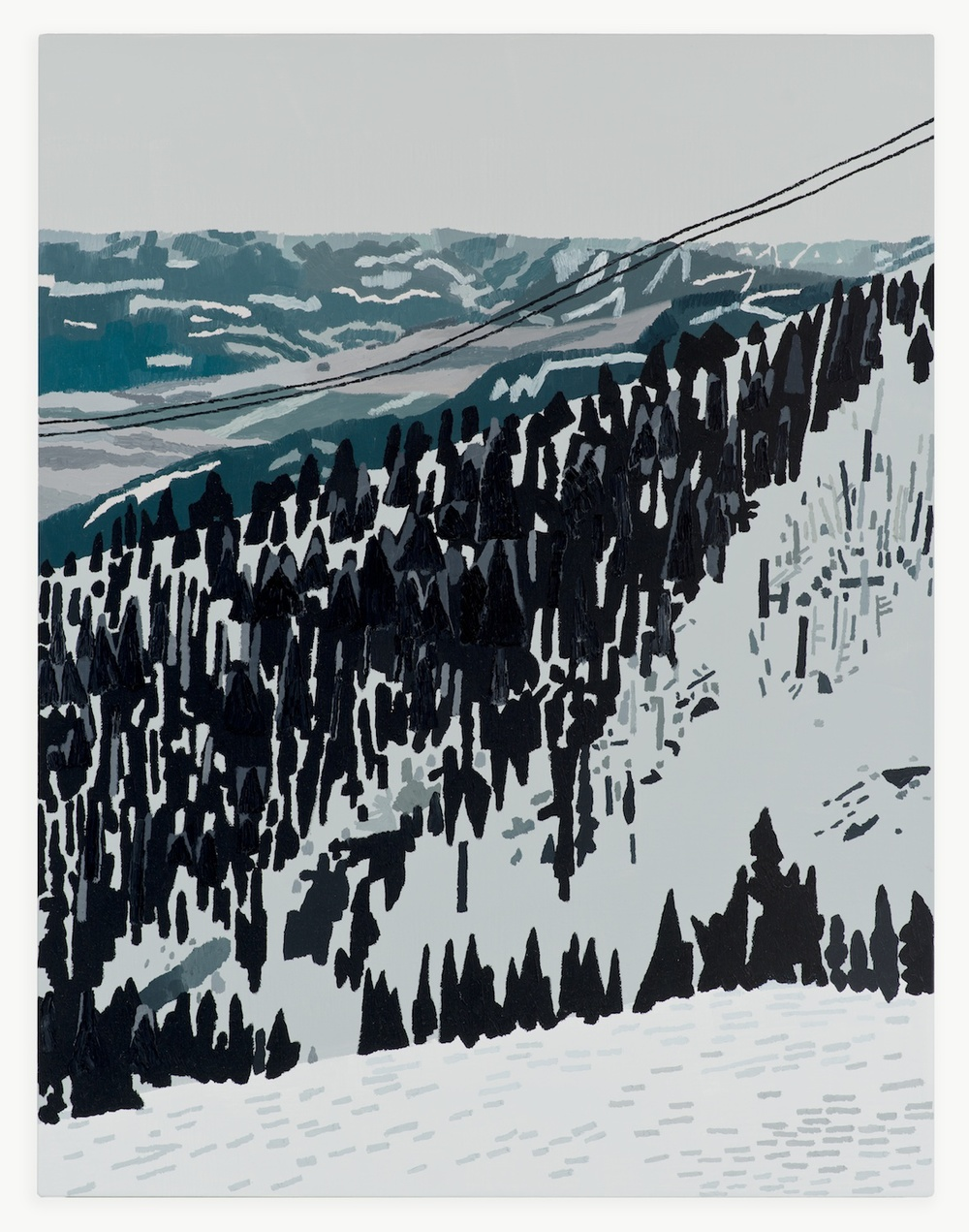 Jonas Wood Jackson Hole Wyoming 2013 Oil and acrylic on linen JW152