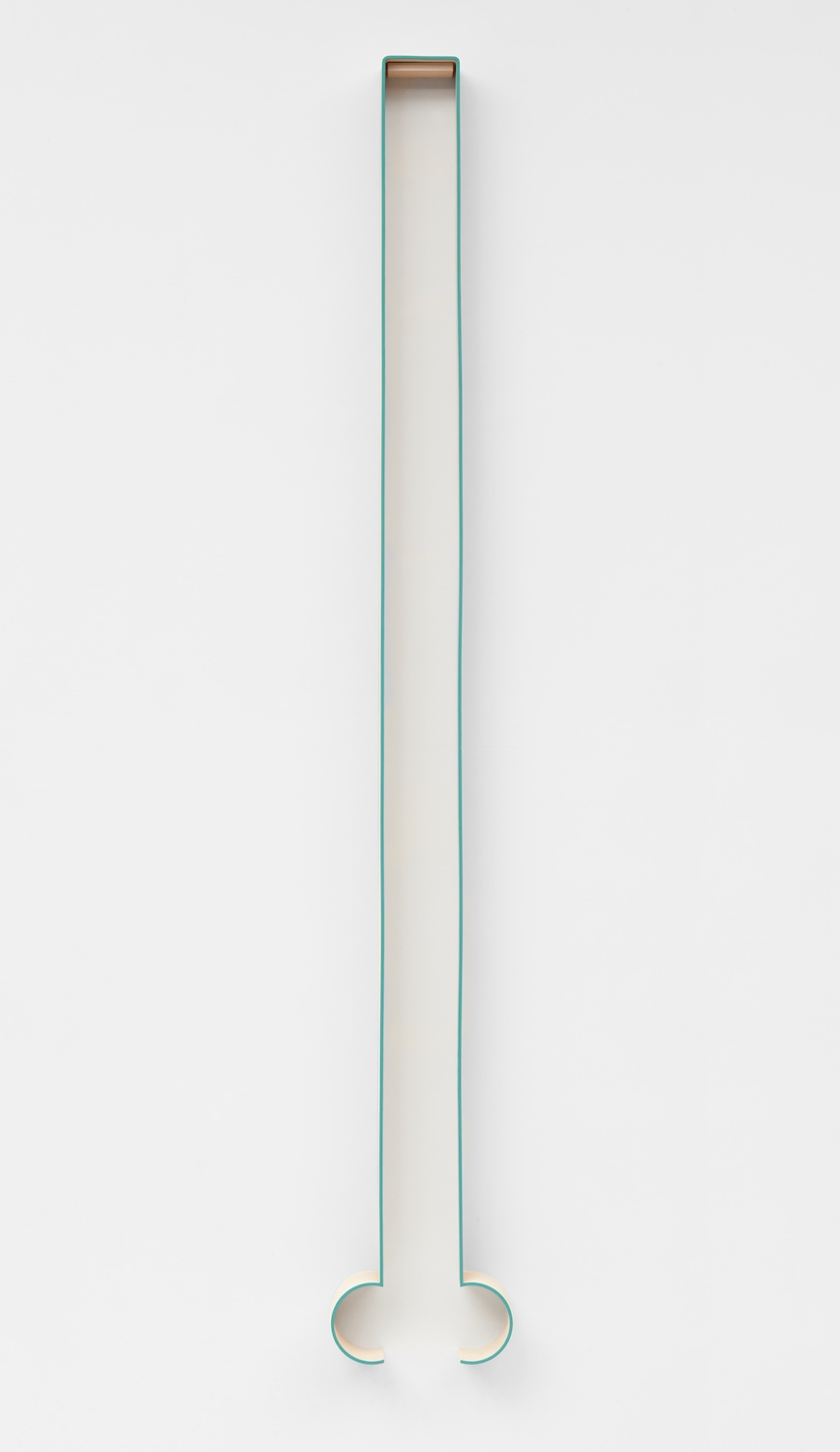 Lisa Williamson  Bump, Hairpin  2013 Acrylic on powder-coated steel 80h x 14w x 4d in LW117