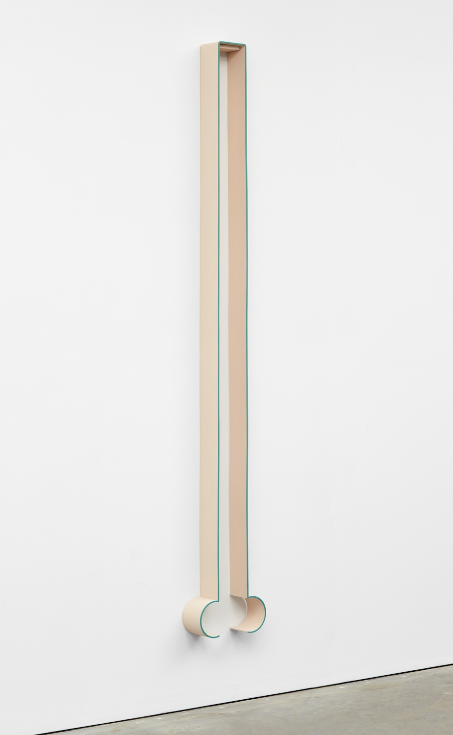 "Lisa Williamson Bump, Hairpin 2013 Acrylic on powder-coated steel 80"" x 14"" x 4"" LW117"