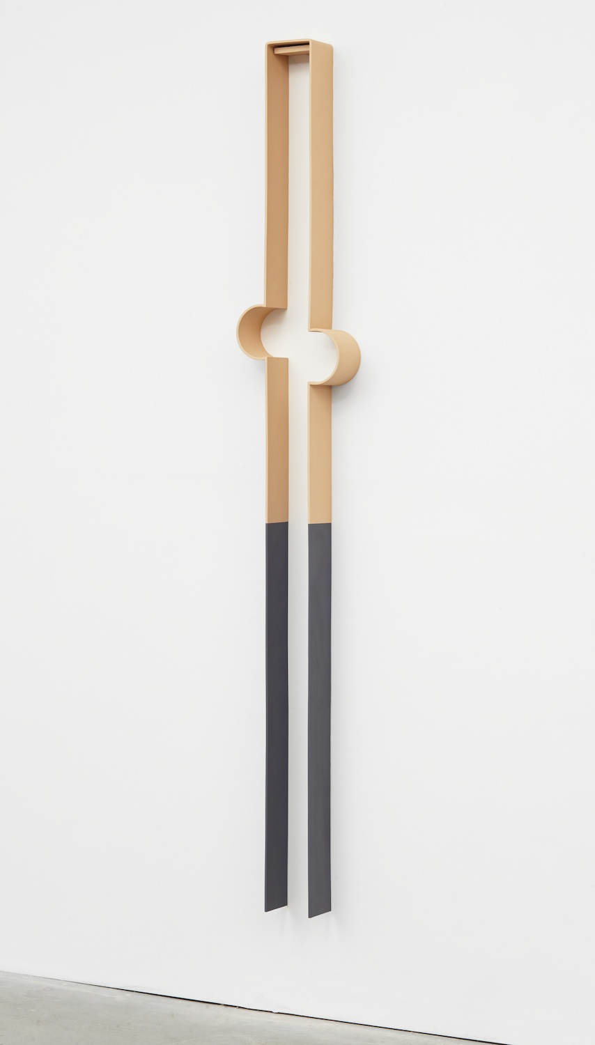 Lisa Williamson  Bump, Camel  2013 Acrylic on powder-coated steel 80h x 14w x 4d in LW119