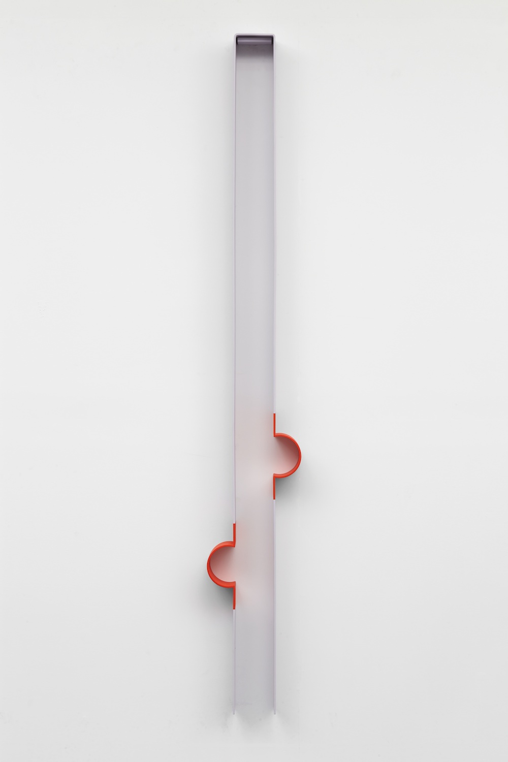 Lisa Williamson  Bump, Neoprene  2013 Acrylic on powder-coated steel 80h x 14w x 4d in LW121