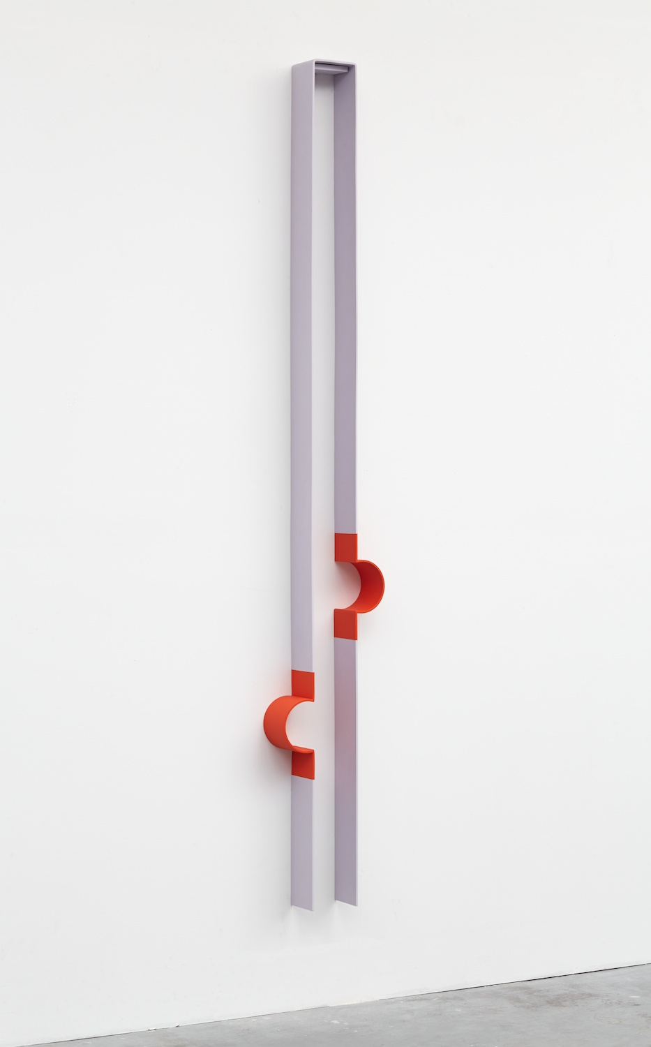"Lisa Williamson Bump, Neoprene 2013 Acrylic on powder-coated steel 80"" x 14"" x 4"" LW121"