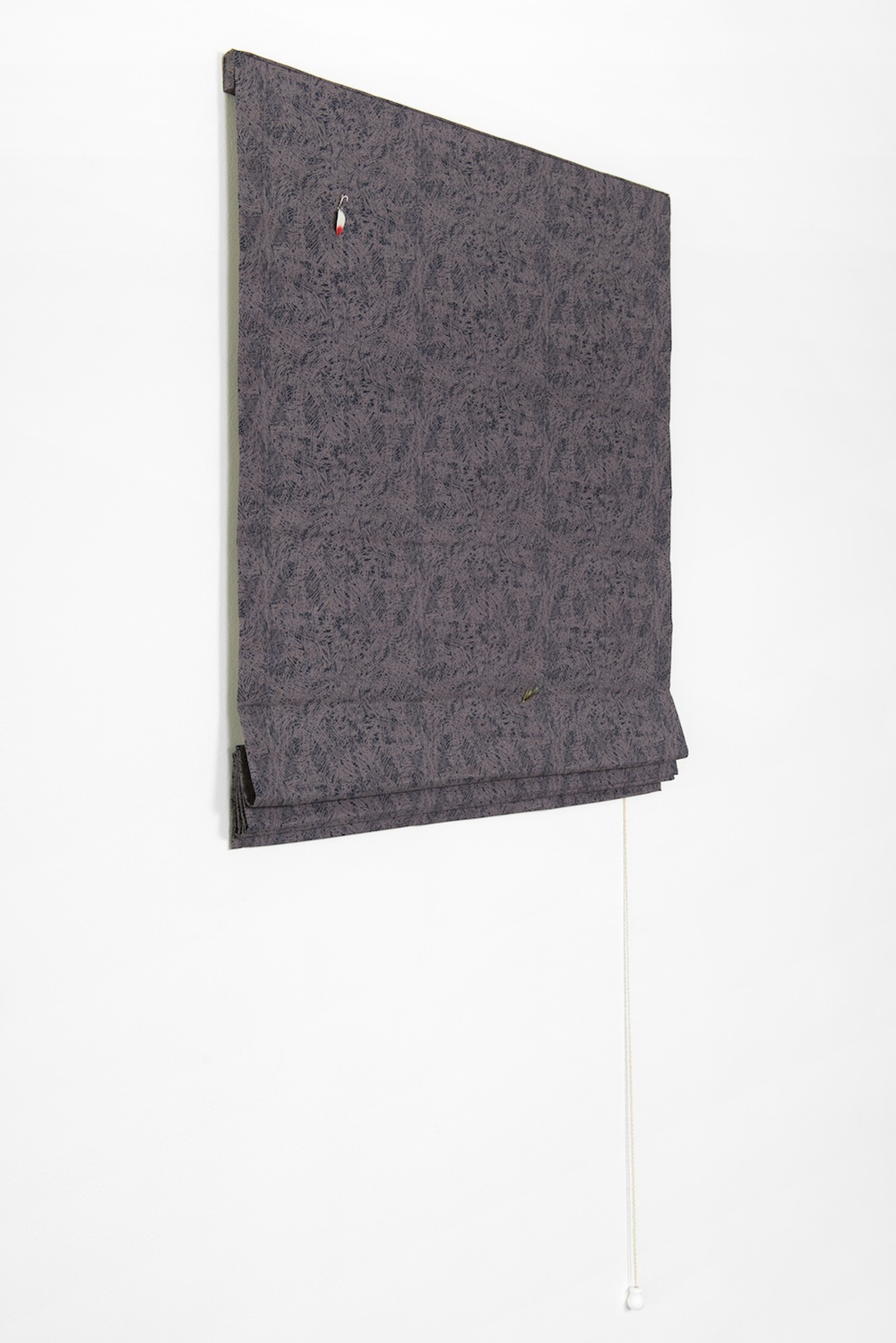 "Paul Cowan Untitled 2013 Fabric, lures, hardware 66"" x 32""  PC060"