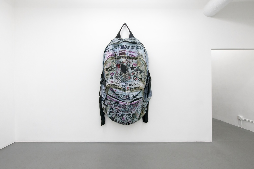 Amanda Ross-Ho CRADLE OF FLITH 2013 Shane Campbell Gallery, Chicago Installation View