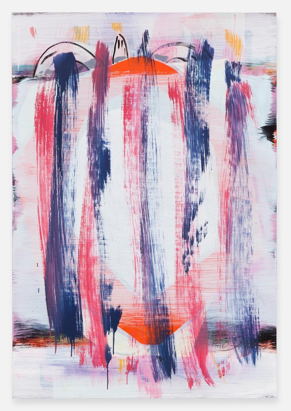 """Jon Pestoni Buried Target 2012 Oil on canvas 45"""" x 31"""" JP129"""