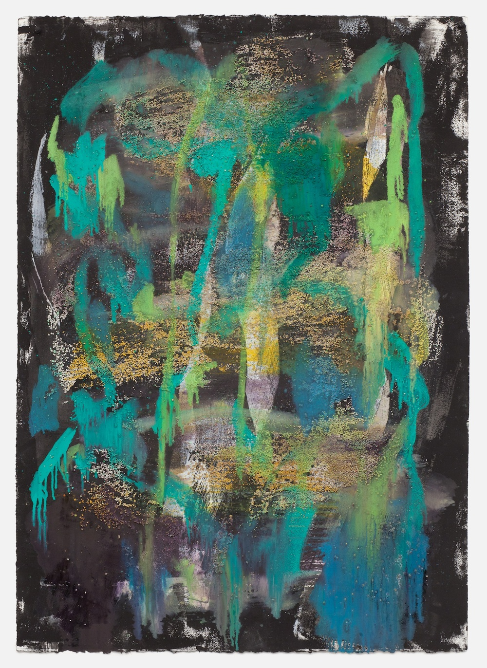"Jon Pestoni Untitled 2013 Oil and mixed media on paper 40"" x 30"" JP142"