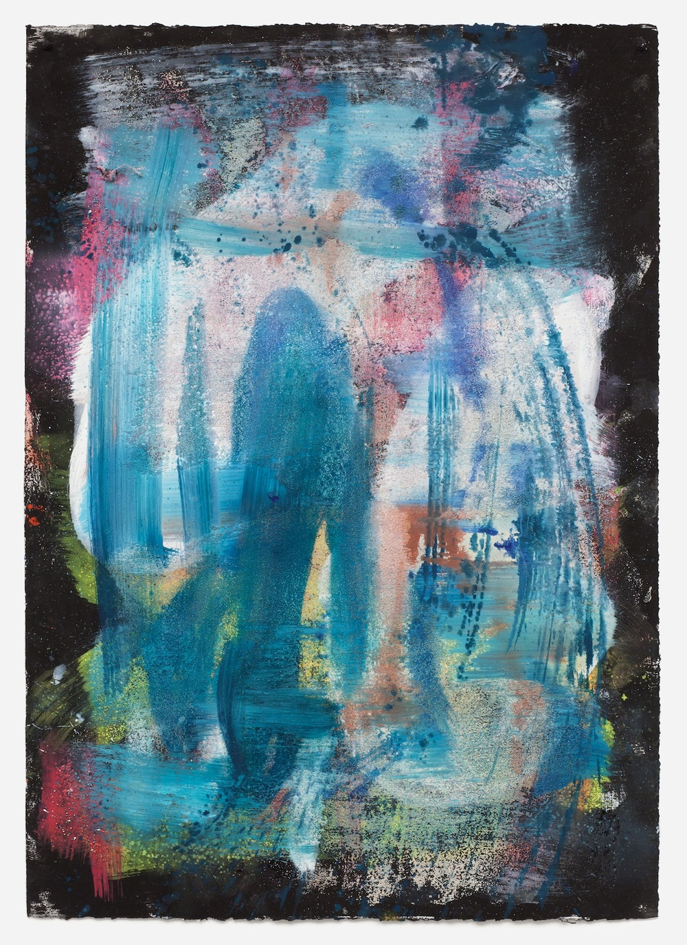 Jon Pestoni  Untitled  2013 Oil and mixed media on paper 40h x 30w in JP139