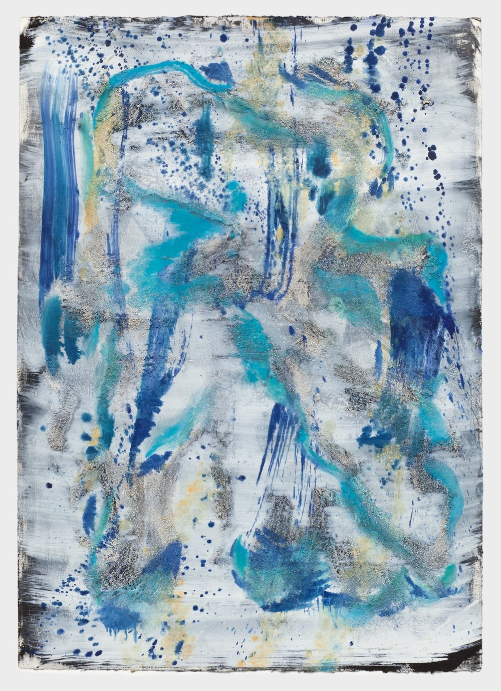 "Jon Pestoni Untitled 2013 Oil and mixed media on paper 40"" x 30"" JP141"