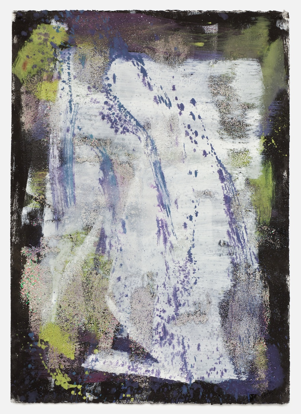 "Jon Pestoni Untitled 2013 Oil and mixed media on paper 40"" x 30"" JP145"