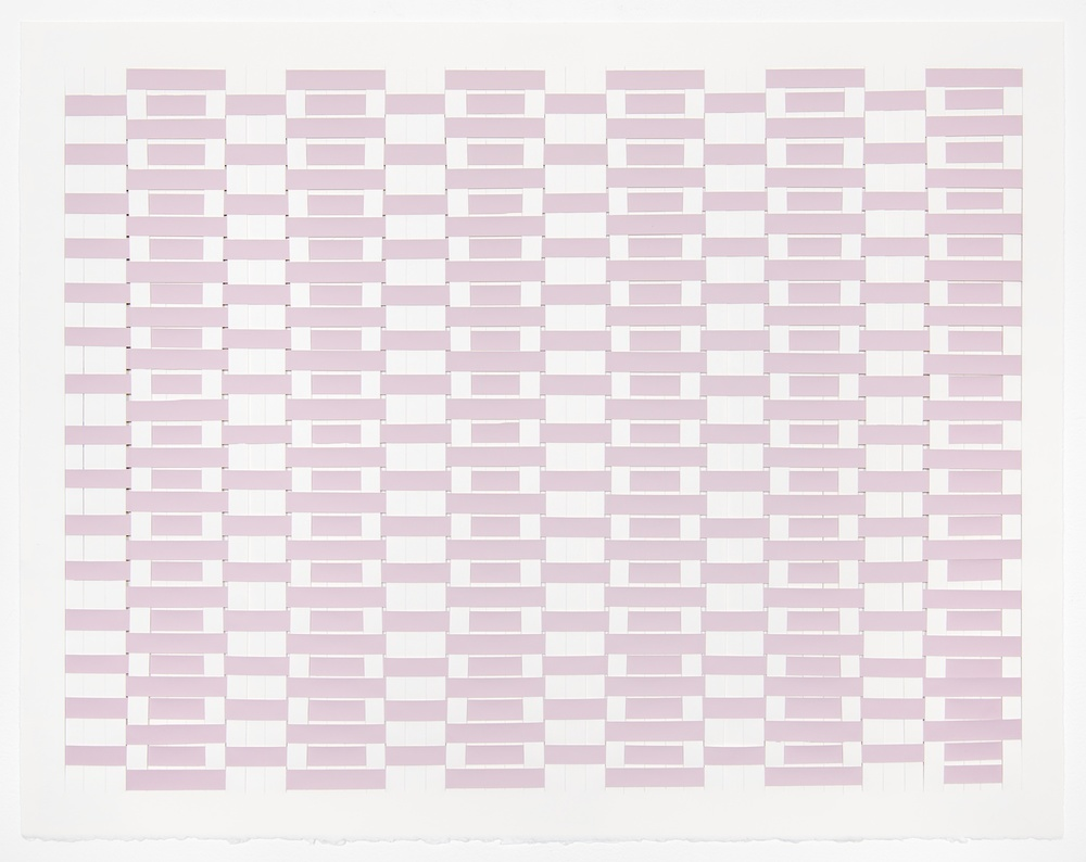 Michelle Grabner  Untitled  2008 Paper and color-aid 22h x 30w in MGrab116