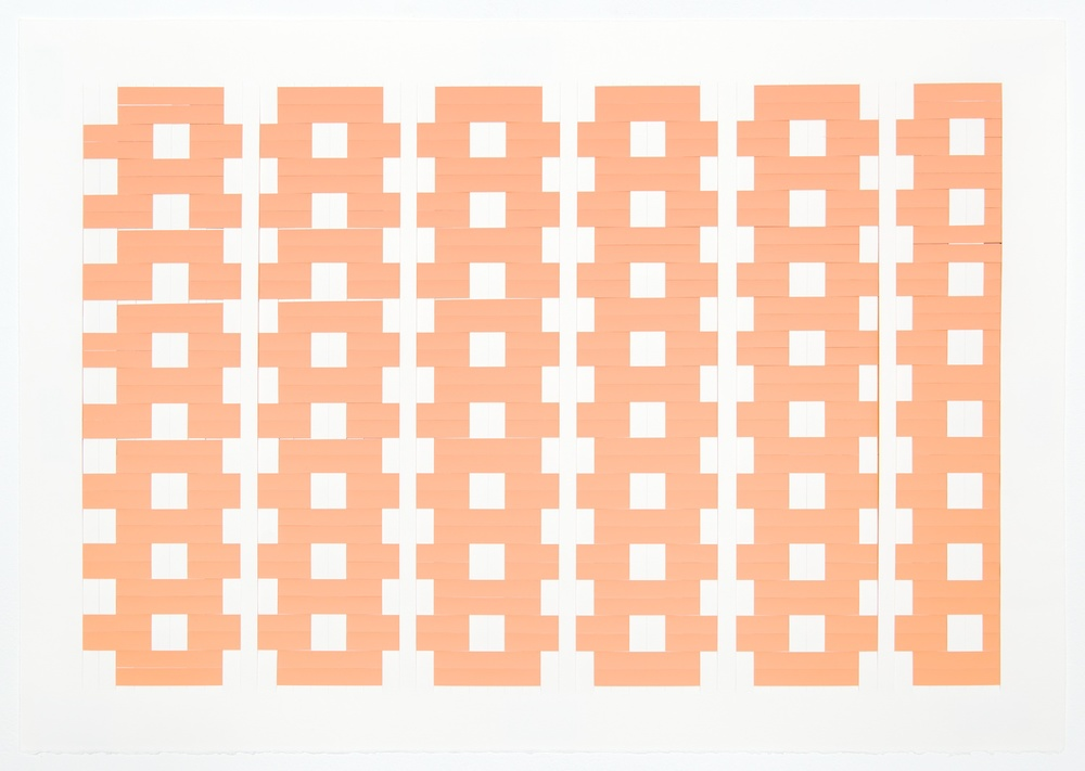 Michelle Grabner  Untitled  2008 Paper and Color-aid 22h x 30w in MGrab117