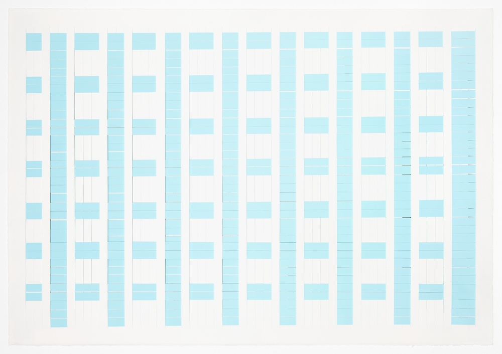 Michelle Graber  Untitled  2008 Paper and Color-aid 22h x 30w in MGrab119
