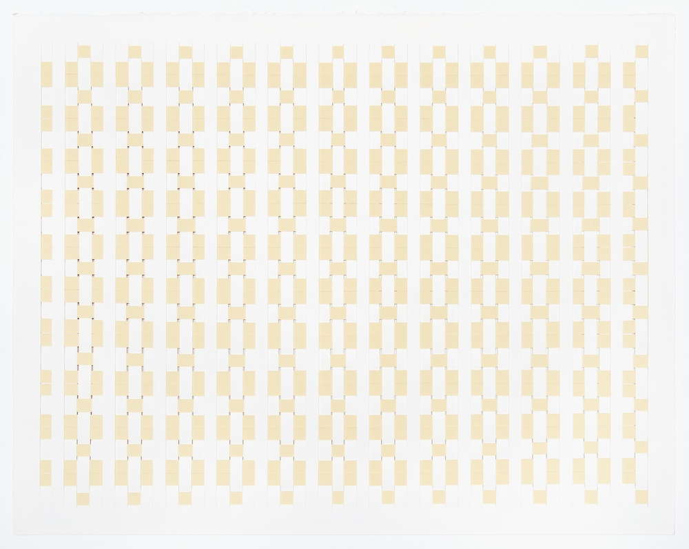 Michelle Graber  Untitled  2008 Paper and Color-aid 22h x 30w in MGrab120