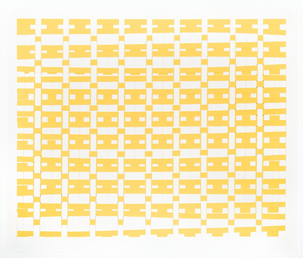 Michelle Graber  Untitled  2008 Paper and Color-aid 22h x 30w in MGrab121