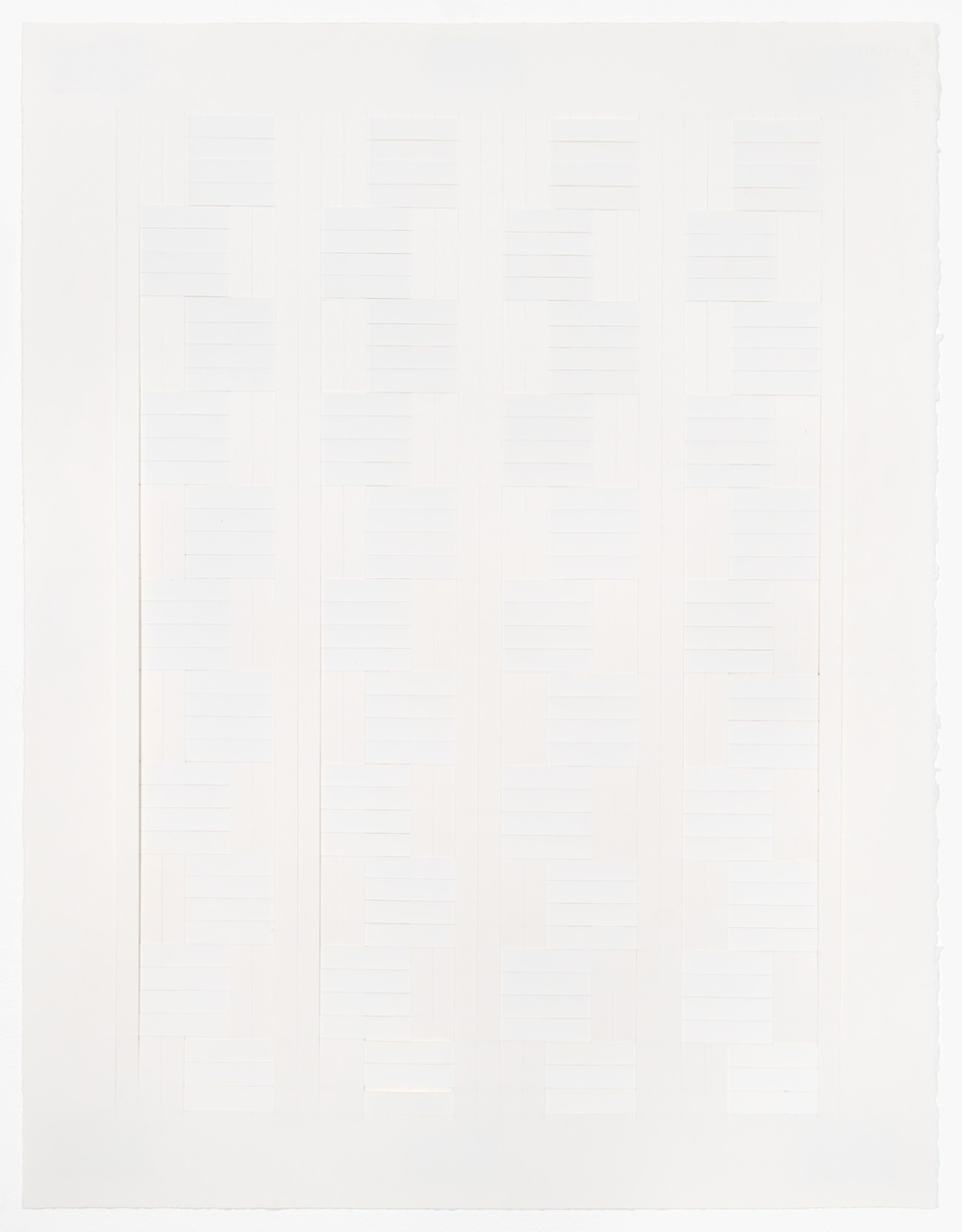Michelle Graber  Untitled  2003 Paper and Color-aid 26h x 20w in MGrab202