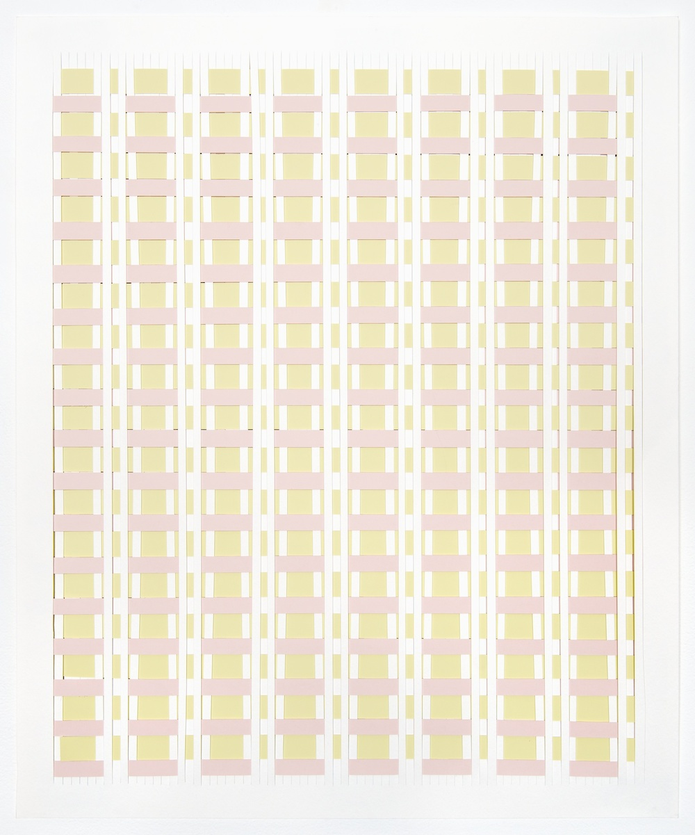 Michelle Graber  Untitled  2004 Paper and Color-aid 26h x 20w in MGrab204