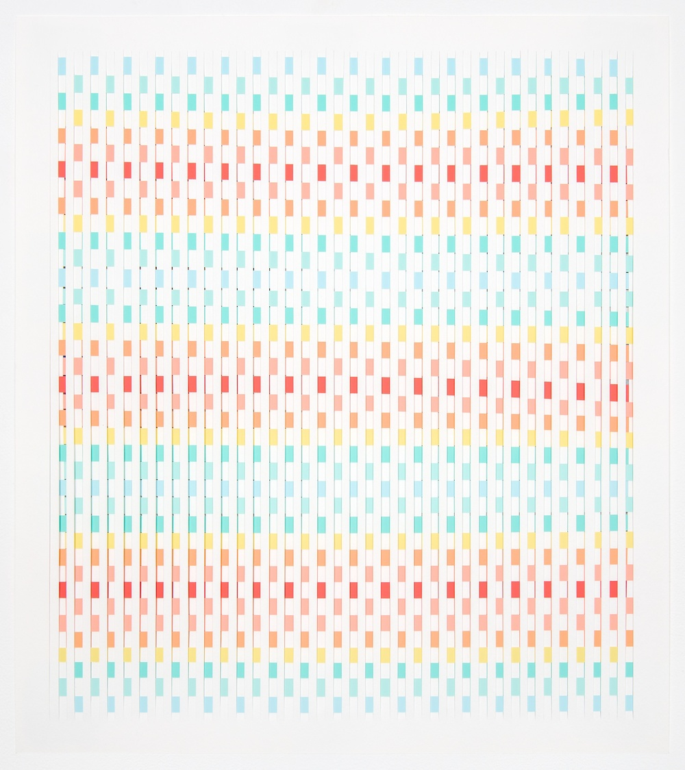 Michelle Graber  Untitled  2002 Paper and Color-aid 22 ⅝h x 20w in MGrab205