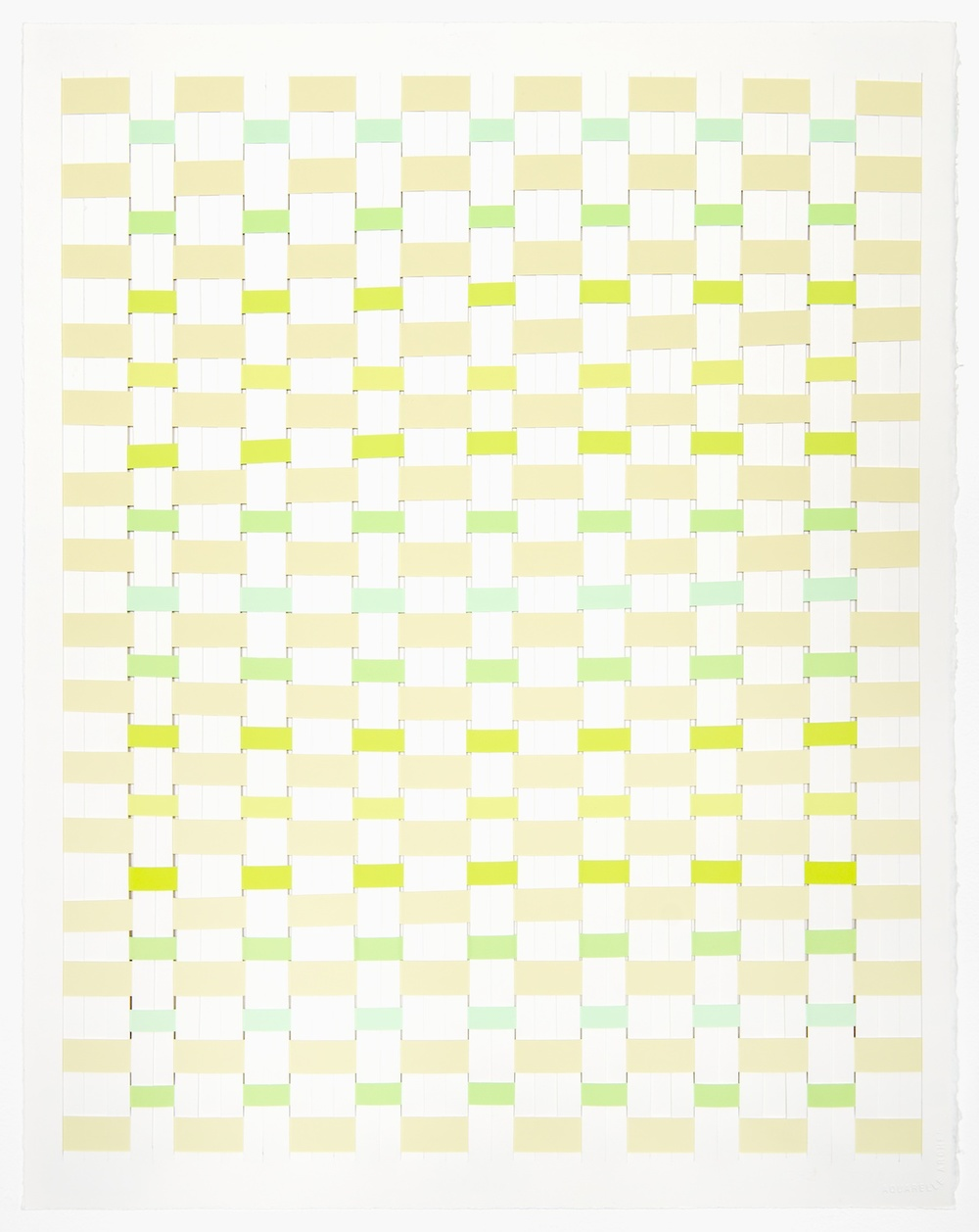 Michelle Graber  Untitled  2002 Paper and Color-aid 26h x 20 ½w in MGrab206