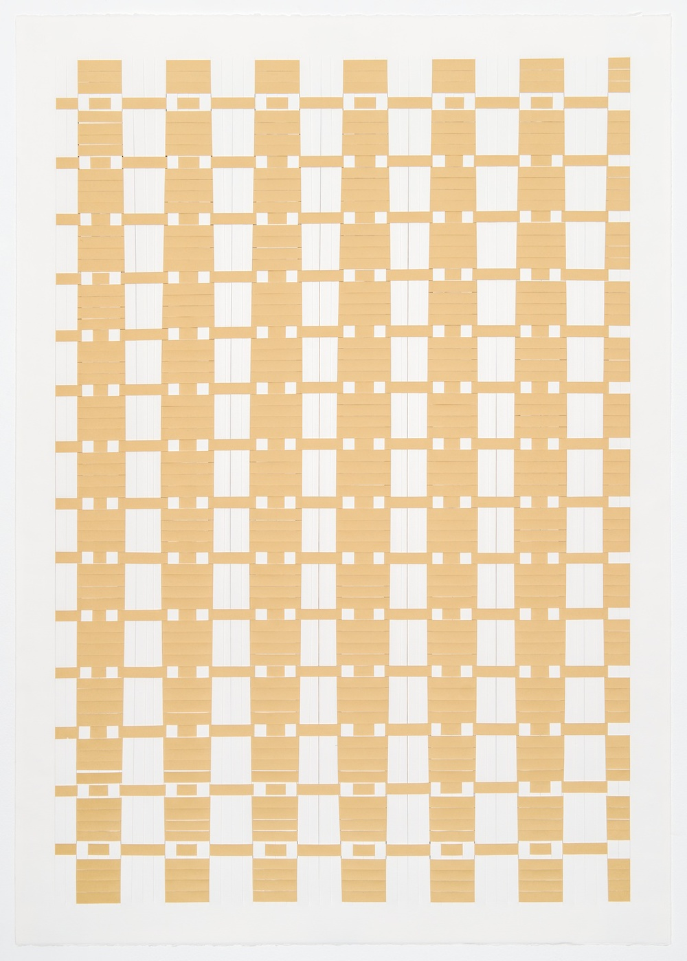Michelle Graber  Untitled  2001 Paper and Color-aid 41h x 29 ½w in MGrab208