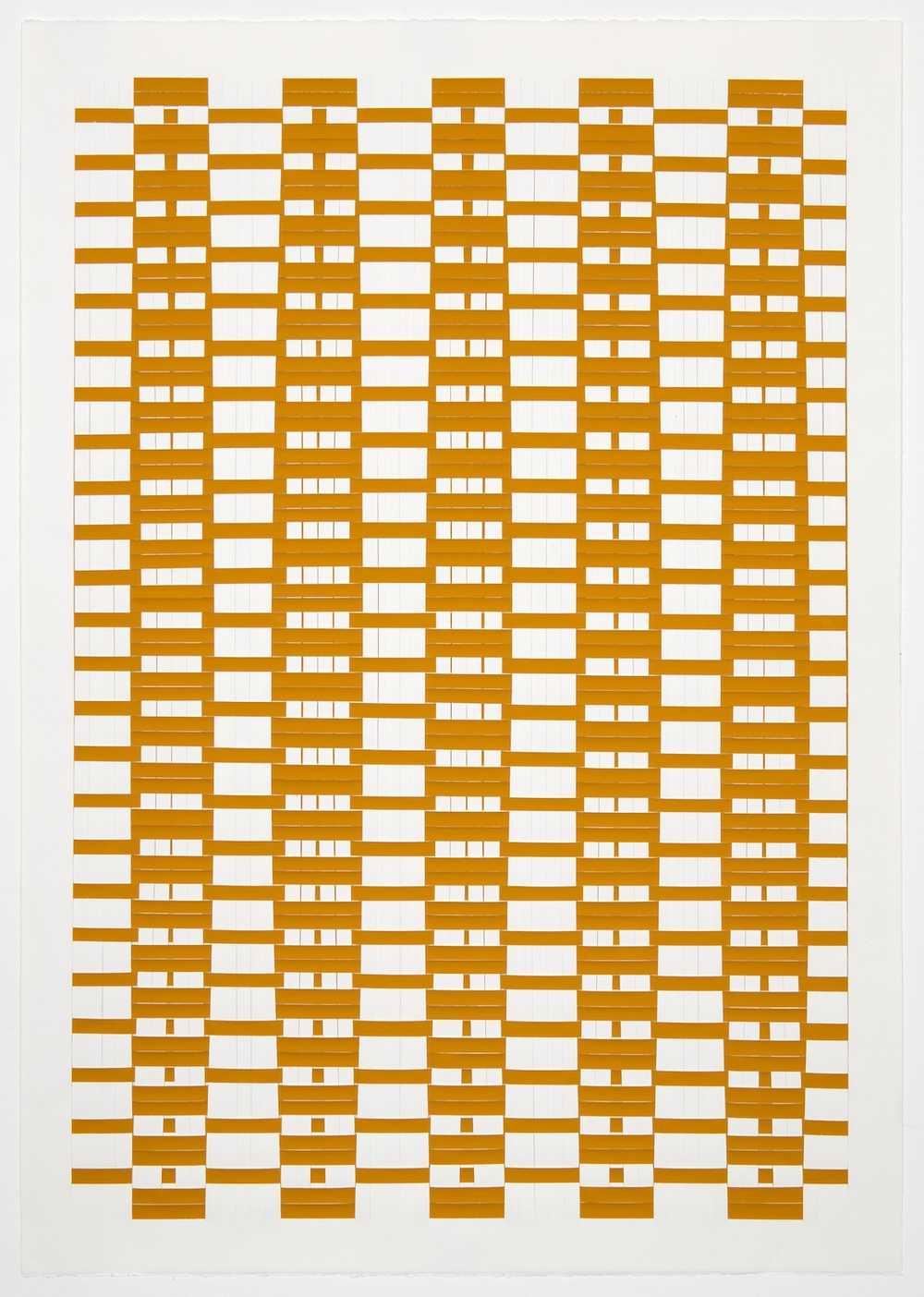 Michelle Graber  Untitled  2001 Paper and Color-aid 41h x 29 ½w in MGrab207