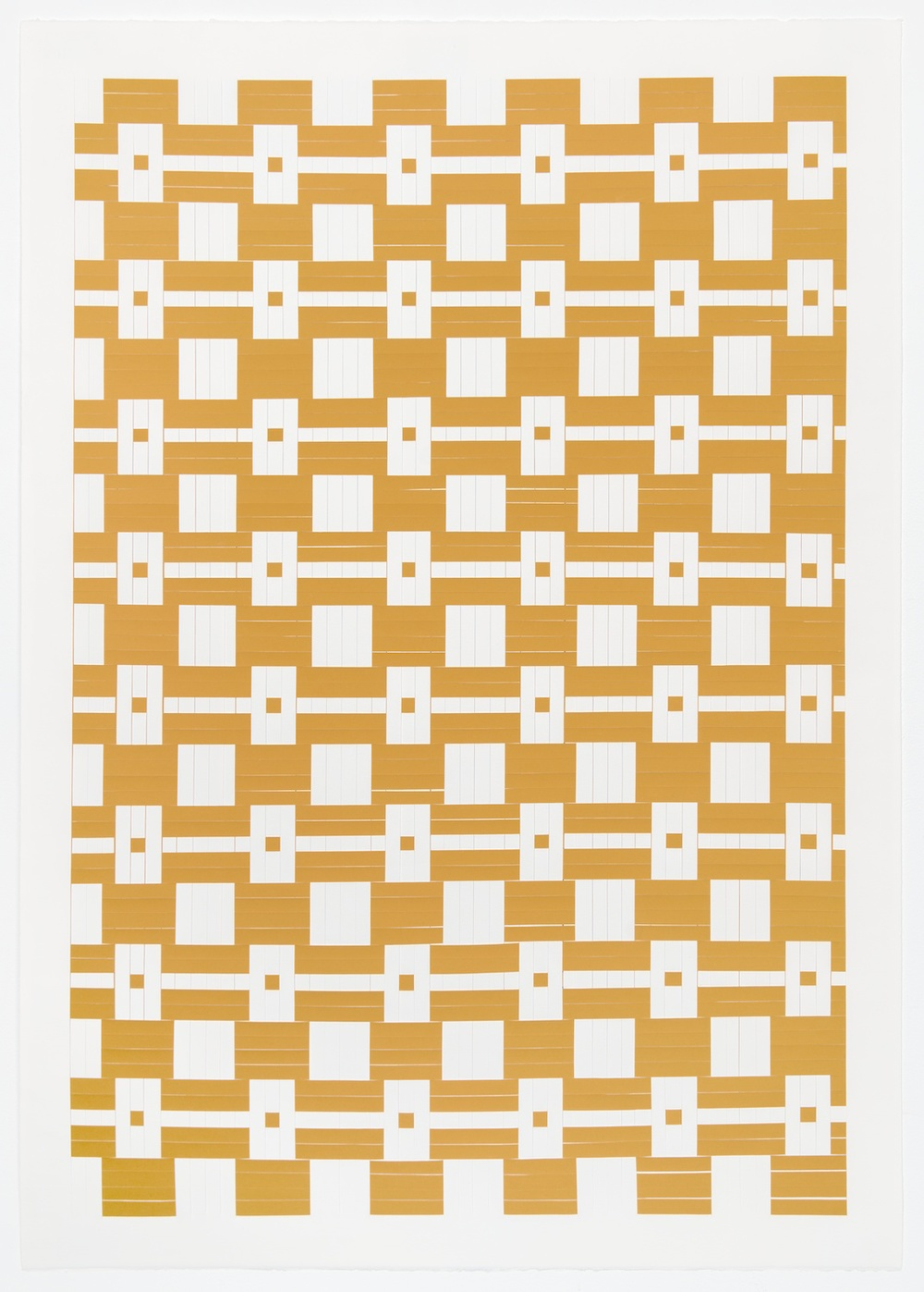 Michelle Graber  Untitled  2001 Paper and Color-aid 41h x 29 ½w in MGrab210