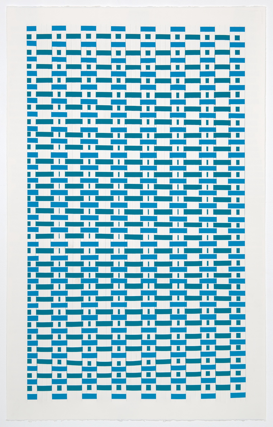 Michelle Graber  Untitled  2001 Paper and Color-aid 41h x 26w in MGrab211