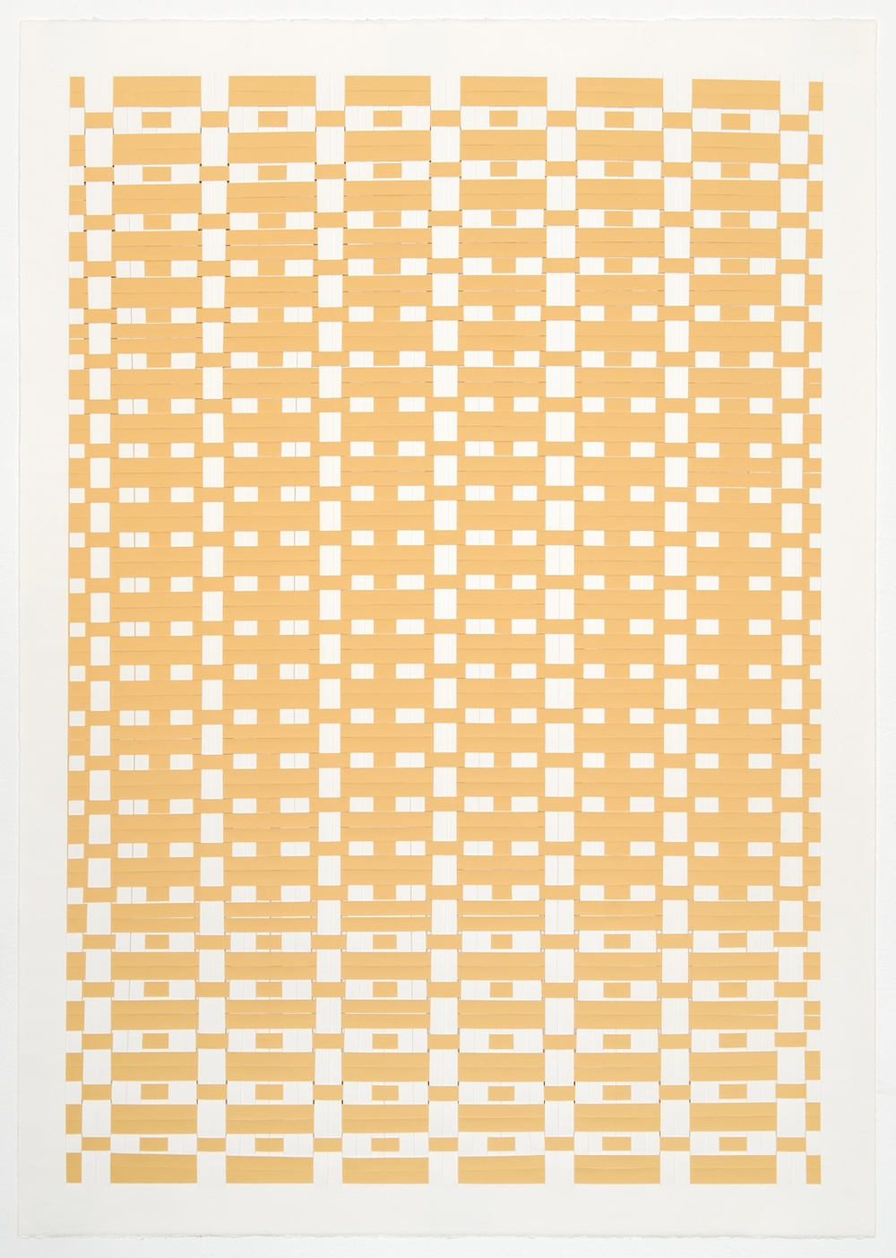 Michelle Graber  Untitled  2001 Paper and Color-aid 41h x 29 ½w in MGrab209