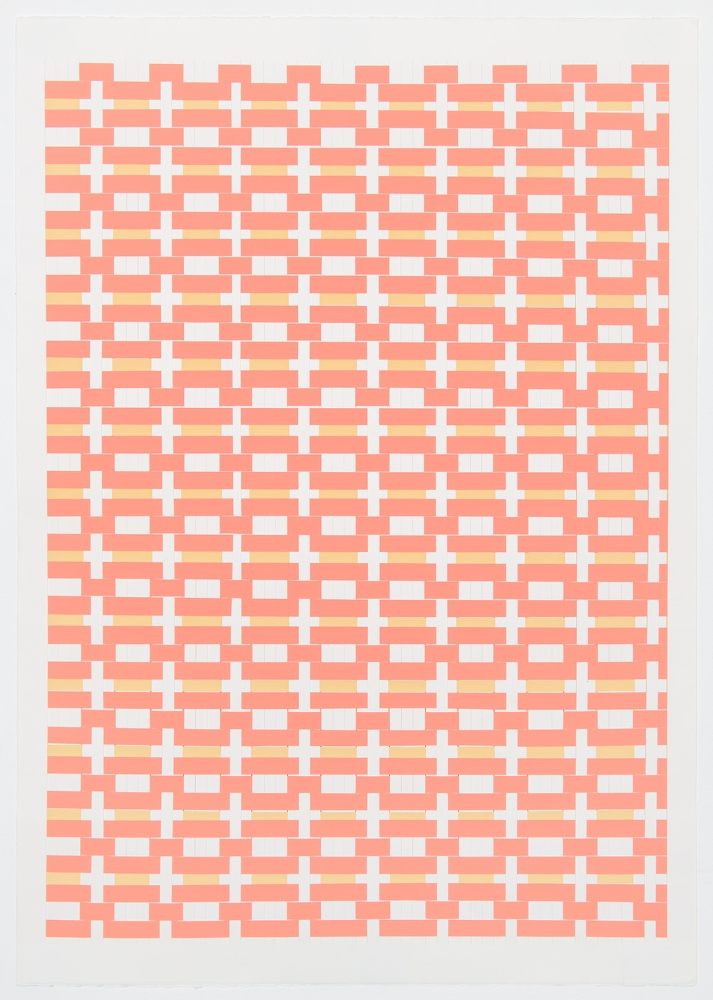 Michelle Graber  Untitled  2002 Paper and Color-aid 41h x 29 ½w in MGrab212