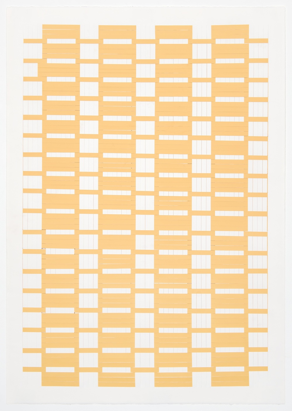 Michelle Graber  Untitled  2001 Paper and Color-aid 25h x 29 ½w in MGrab215