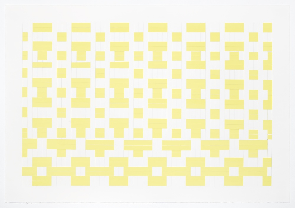 Michelle Graber  Untitled  2002 Paper and Color-aid 20 ½h x 29 ¾w in MGrab216