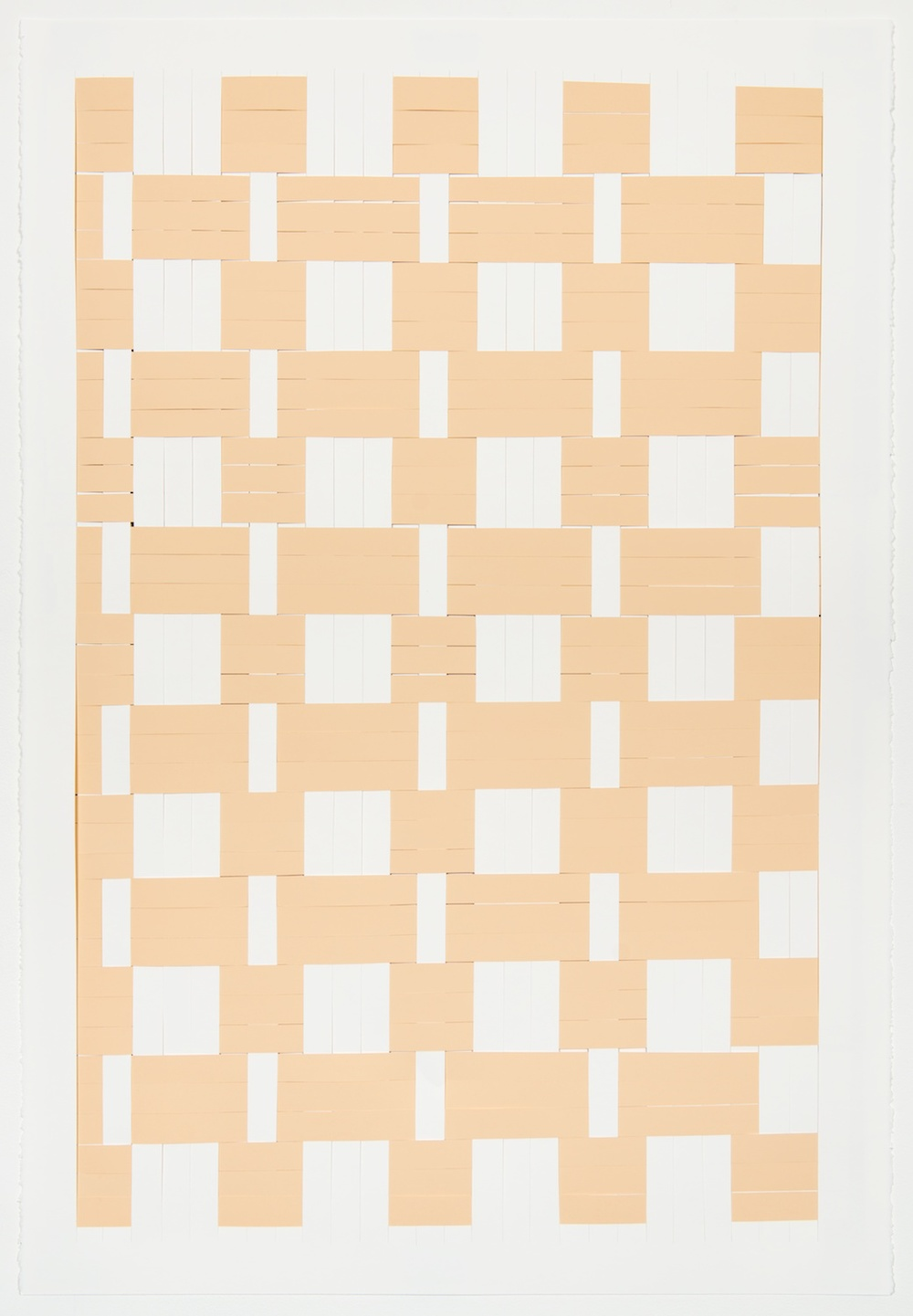 Michelle Graber  Untitled  2013 Paper and Color-aid 44h x 30w in MGrab297
