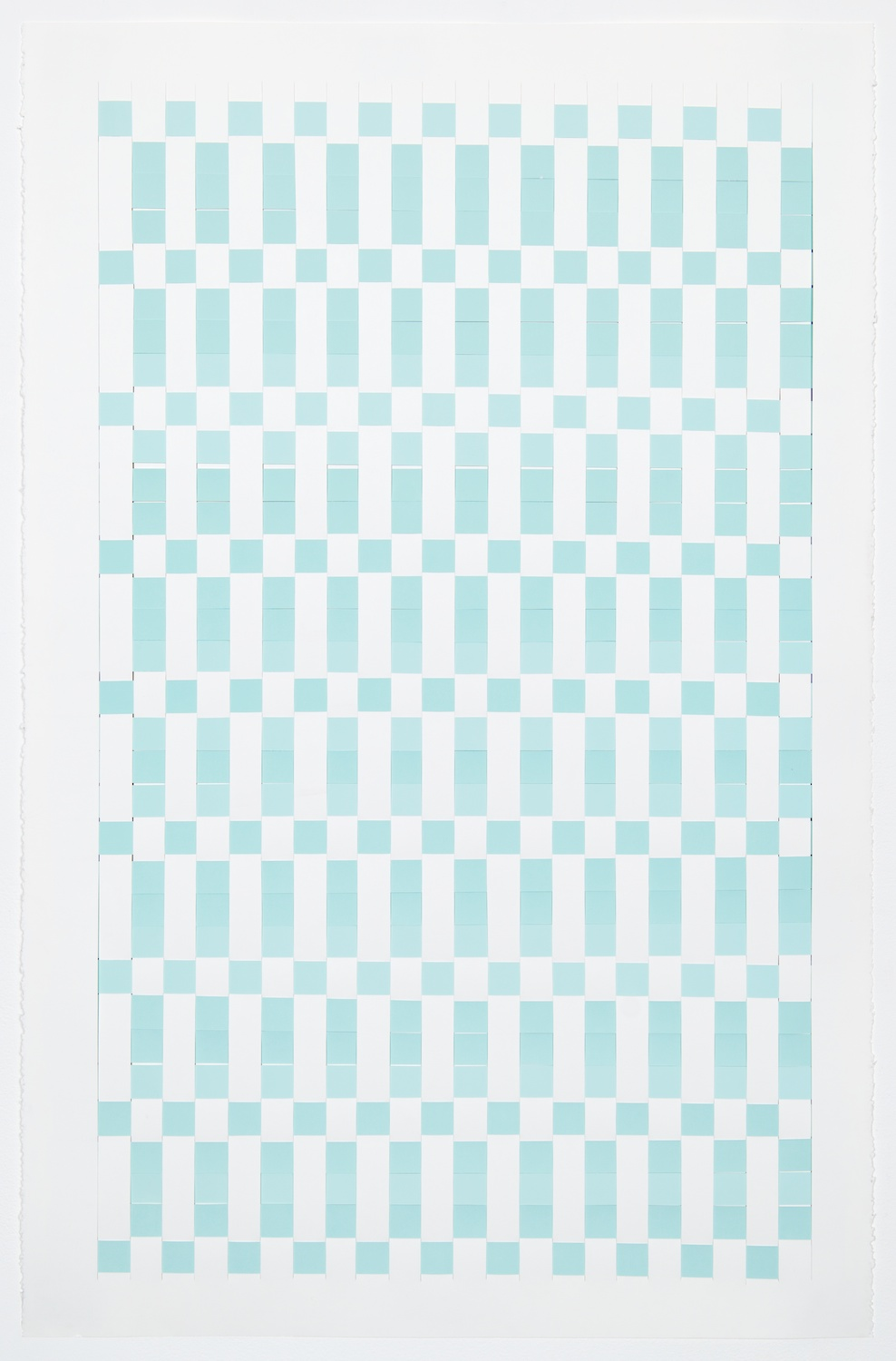 Michelle Graber  Untitled  2013 Paper and Color-aid 40h x 26w in MGrab299